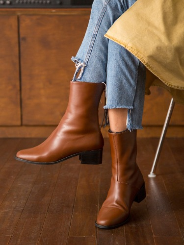 BIB18407 ANN ANKLE BOOTS TAN(BROWN)