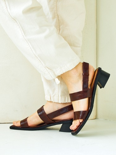 BKS2007 DOUBLE SANDAL BROWN