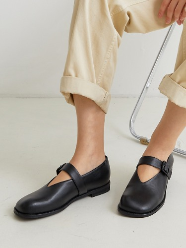 BKB20302 PEBBLE MARYJANE LOAFER BLACK